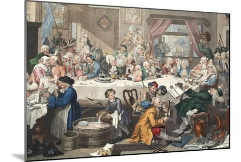 An Election Entertainment, Illustration from 'Hogarth Restored: the Whole Works of the Celebrated…-William Hogarth-Mounted Giclee Print