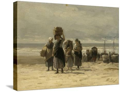 Arrival of Fishing Smacks, C.1875-Philip Lodewijk Jacob Frederick Sadee-Stretched Canvas Print