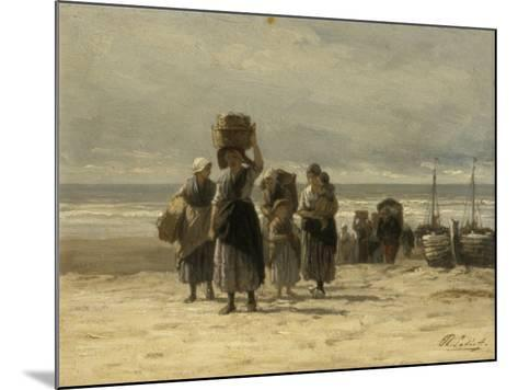 Arrival of Fishing Smacks, C.1875-Philip Lodewijk Jacob Frederick Sadee-Mounted Giclee Print