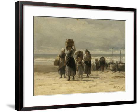 Arrival of Fishing Smacks, C.1875-Philip Lodewijk Jacob Frederick Sadee-Framed Art Print