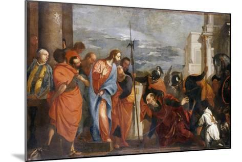 The Centurion of Capernaum, C.1570-Paolo Veronese-Mounted Giclee Print