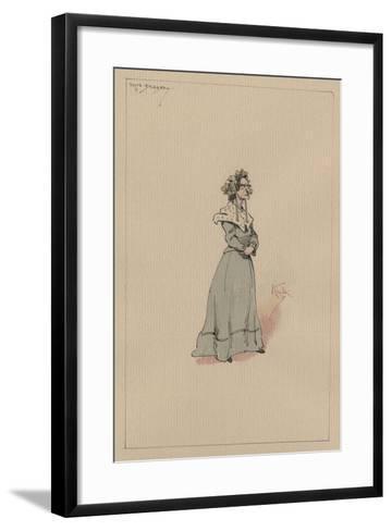 Mrs Snagsby, C.1920s-Joseph Clayton Clarke-Framed Art Print