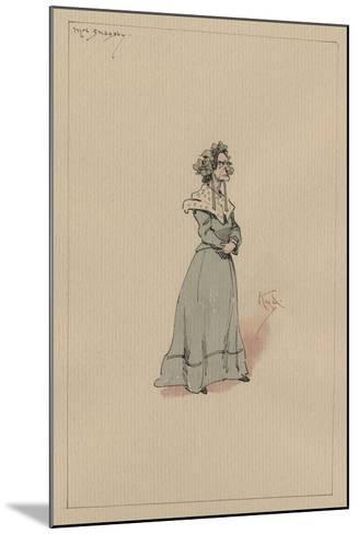 Mrs Snagsby, C.1920s-Joseph Clayton Clarke-Mounted Giclee Print