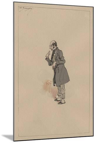 Mr Snagsby, C.1920s-Joseph Clayton Clarke-Mounted Giclee Print