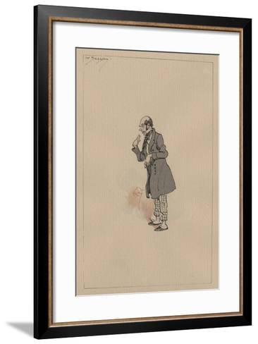 Mr Snagsby, C.1920s-Joseph Clayton Clarke-Framed Art Print