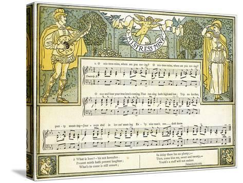 O Mistress Mine, Where are You Roving?', Song from 'twelfth Night', Act II, Scene III,…-Walter Crane-Stretched Canvas Print