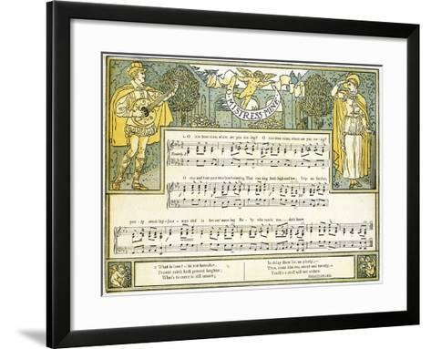 O Mistress Mine, Where are You Roving?', Song from 'twelfth Night', Act II, Scene III,…-Walter Crane-Framed Art Print