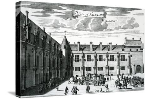 Palace of Falkland, from 'Theatrum Scotiae' by John Slezer, Published 1693-John Slezer-Stretched Canvas Print
