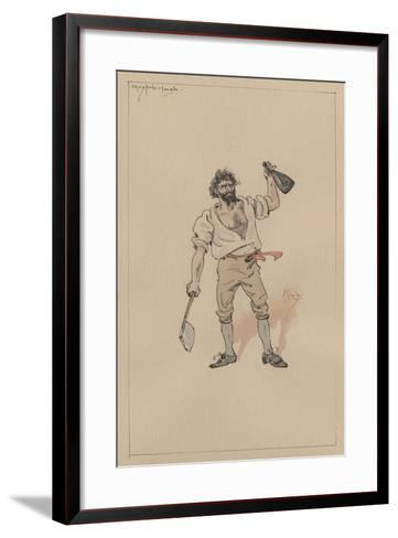 Maypole Hugh, C.1920s-Joseph Clayton Clarke-Framed Art Print