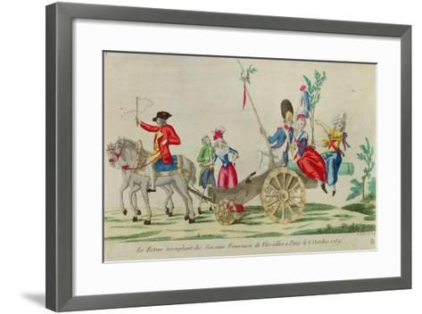 The Triumphant Return of the French Heroines from Versailles to Paris on the 6 October 1789--Framed Art Print