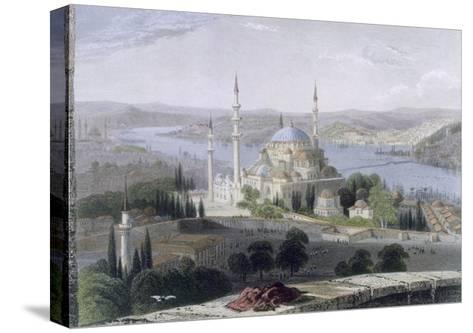 Mosque and Tomb of Suleiman, C.1850-William Henry Bartlett-Stretched Canvas Print