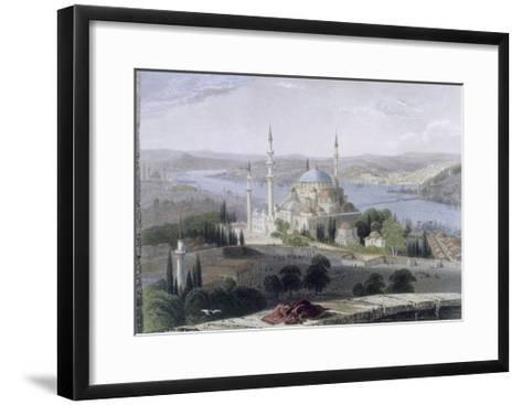 Mosque and Tomb of Suleiman, C.1850-William Henry Bartlett-Framed Art Print