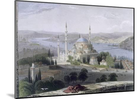Mosque and Tomb of Suleiman, C.1850-William Henry Bartlett-Mounted Giclee Print