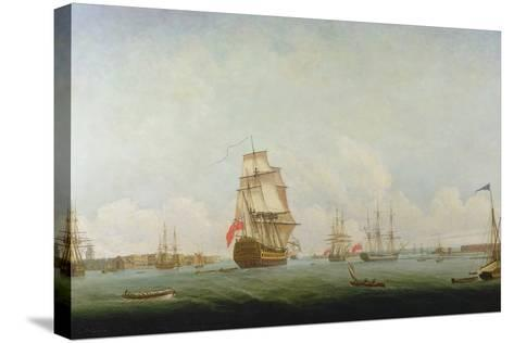 Victory Leaving Portsmouth-Captain William Elliott-Stretched Canvas Print