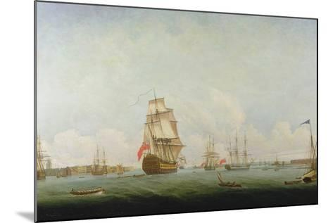 Victory Leaving Portsmouth-Captain William Elliott-Mounted Giclee Print