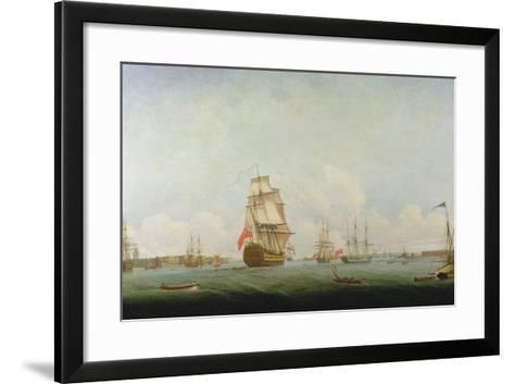 Victory Leaving Portsmouth-Captain William Elliott-Framed Art Print