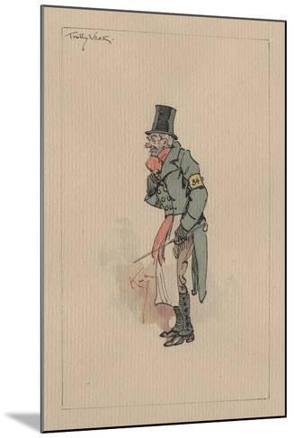 Trotty Veck - the Chimes, C.1920s-Joseph Clayton Clarke-Mounted Giclee Print