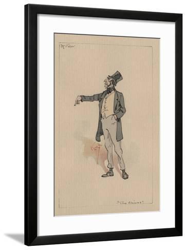 Mr Filer - the Chimes, C.1920s-Joseph Clayton Clarke-Framed Art Print