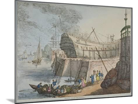 View of Brunswick Dock, 1806-Thomas Rowlandson-Mounted Giclee Print