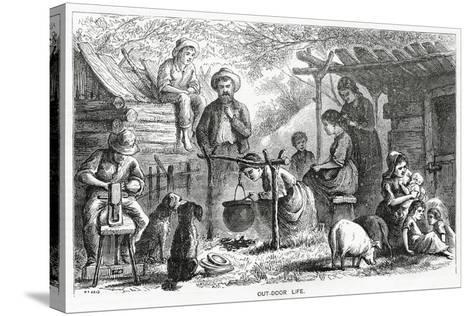 """""""Out-Door Life"""", Illustration for a Feature Story, 'A Community of Outcasts', from 'Appleton's…--Stretched Canvas Print"""