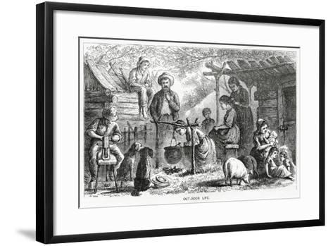 """""""Out-Door Life"""", Illustration for a Feature Story, 'A Community of Outcasts', from 'Appleton's…--Framed Art Print"""