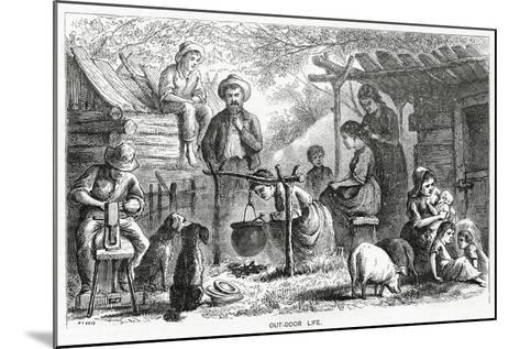 """""""Out-Door Life"""", Illustration for a Feature Story, 'A Community of Outcasts', from 'Appleton's…--Mounted Giclee Print"""