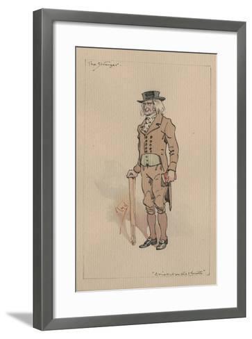 The Stranger, or Edward Plummer - the Cricket on the Hearth, C.1920s-Joseph Clayton Clarke-Framed Art Print