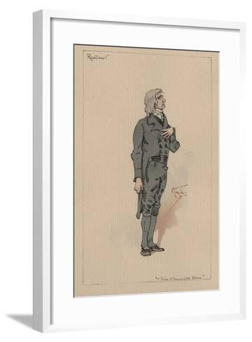 Redlaw - the Haunted Man and the Ghost's Bargain, C.1920s-Joseph Clayton Clarke-Framed Art Print
