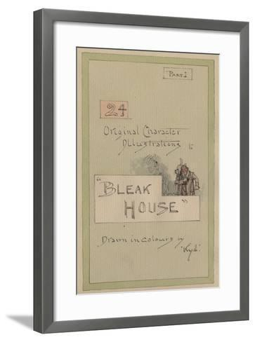 Title Page, Illustrations for 'Bleak House', Part 1, C.1920s-Joseph Clayton Clarke-Framed Art Print