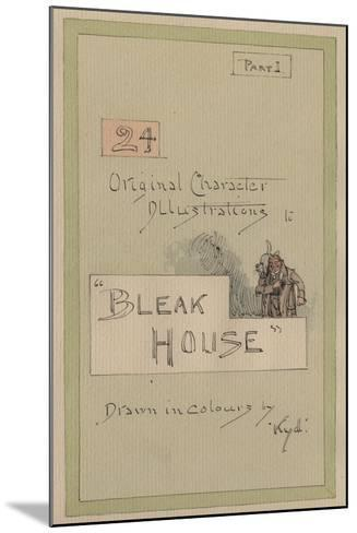 Title Page, Illustrations for 'Bleak House', Part 1, C.1920s-Joseph Clayton Clarke-Mounted Giclee Print