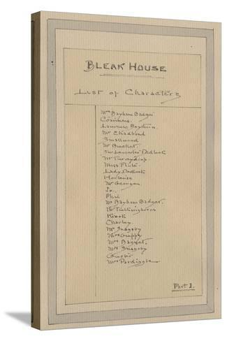 List of Characters, C.1920s-Joseph Clayton Clarke-Stretched Canvas Print