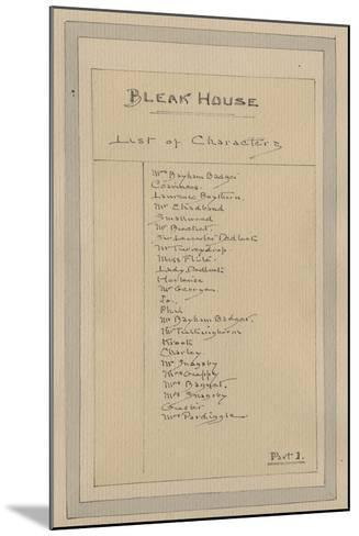 List of Characters, C.1920s-Joseph Clayton Clarke-Mounted Giclee Print