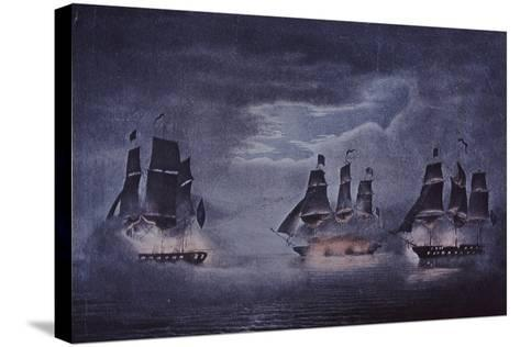 Uss Constitution--Stretched Canvas Print
