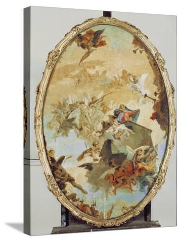 Translation of the Holy House from Nazareth to Loreto-Giovanni Battista Tiepolo-Stretched Canvas Print