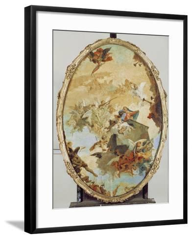 Translation of the Holy House from Nazareth to Loreto-Giovanni Battista Tiepolo-Framed Art Print