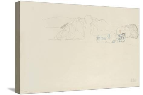 Reclining Half Nude to the Right, C.1914-15-Gustav Klimt-Stretched Canvas Print