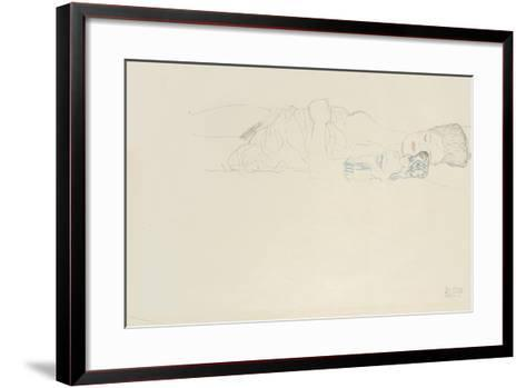 Reclining Half Nude to the Right, C.1914-15-Gustav Klimt-Framed Art Print