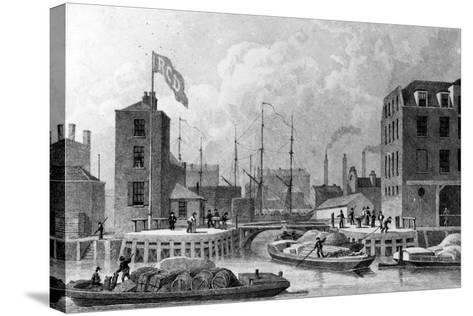 Entrance to the Regent's Canal, Limehouse, Engraved by F. J. Havell, 1828-Thomas Hosmer Shepherd-Stretched Canvas Print