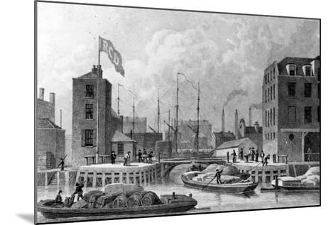 Entrance to the Regent's Canal, Limehouse, Engraved by F. J. Havell, 1828-Thomas Hosmer Shepherd-Mounted Giclee Print