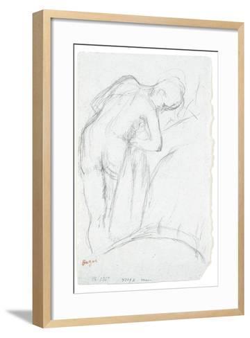 After the Bath-Edgar Degas-Framed Art Print