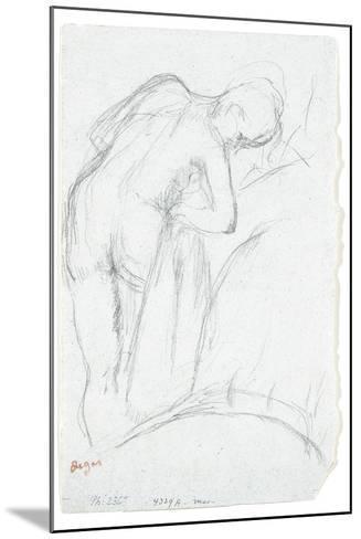 After the Bath-Edgar Degas-Mounted Giclee Print
