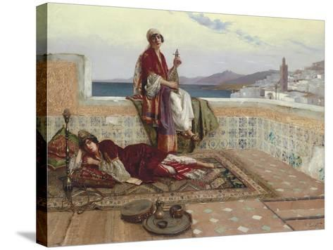 On the Terrace, Tangiers-Rudolphe Ernst-Stretched Canvas Print
