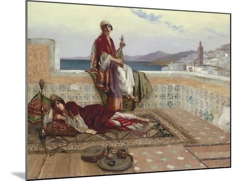 On the Terrace, Tangiers-Rudolphe Ernst-Mounted Giclee Print