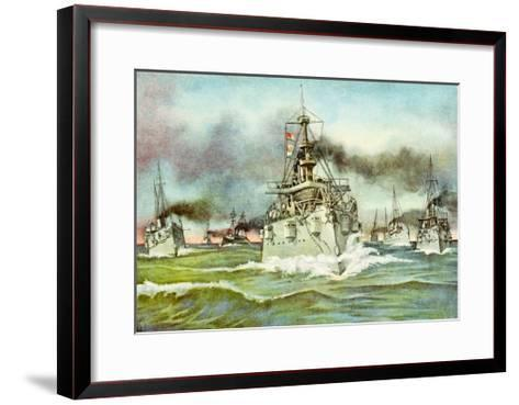 Flying Squadron of the United States Navy During the Spanish-American War, 1898--Framed Art Print