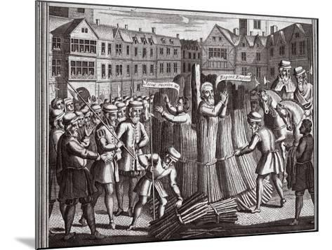 The Martyrdom of Mr John Bradford and John Leaf in Smithfield, Illustration from 'Foxes Martyrs'?--Mounted Giclee Print