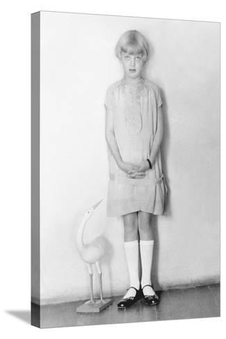 Girl with Stork, Mexico City, C.1926-Tina Modotti-Stretched Canvas Print