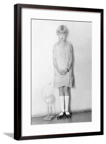 Girl with Stork, Mexico City, C.1926-Tina Modotti-Framed Art Print