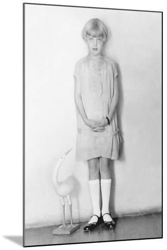 Girl with Stork, Mexico City, C.1926-Tina Modotti-Mounted Photographic Print
