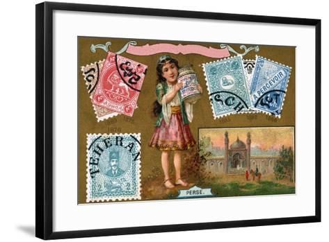 Persian Postage Stamps, 1897--Framed Art Print