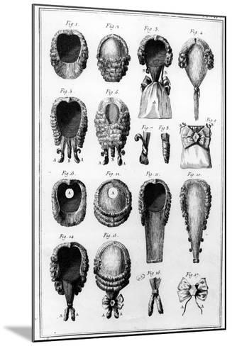 Illustrations of Various Wig Fashions, Plate Vii, Vol.8, from 'Encyclopedie Des Sciences Et…--Mounted Giclee Print